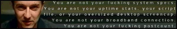 You are not...
